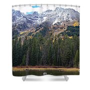 Winter And Fall Mix Shower Curtain