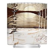 Winter Apex Shower Curtain