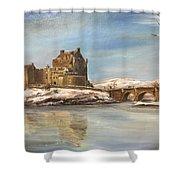 Winter At Eilean Donan Shower Curtain