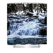 Winter At Mill Creek Falls No. 1 Shower Curtain