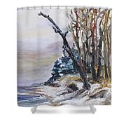 Winter At The Baltic Sea  Shower Curtain