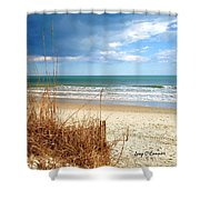 Winter At The Beach Is Still Beautiful Shower Curtain