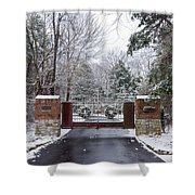 Winter At The Gate Shower Curtain