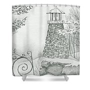 Winter At The Lake Shower Curtain