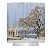 Winter At The Waterworks Shower Curtain