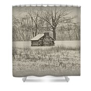 Winter At Valley Forge Shower Curtain