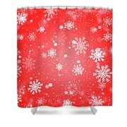 Winter Background With Snowflakes. Shower Curtain