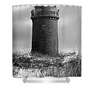 Winter Baltic Sea Lighthouse Shower Curtain