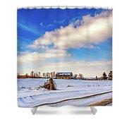 Winter Barn 3 Shower Curtain