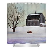 Winter Barn II Shower Curtain