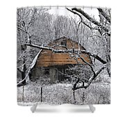 Winter Barn Iv Shower Curtain