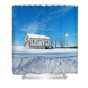 Winter Barn Shower Curtain by Joyce Kimble Smith
