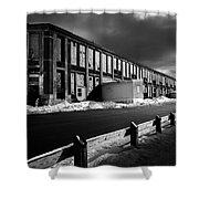 Winter Bates Mill Shower Curtain by Bob Orsillo
