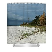 Winter Beauty At The Beachside Shower Curtain