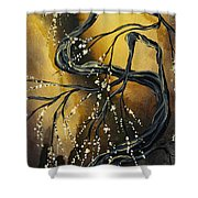 Winter Blossom By Madart Shower Curtain