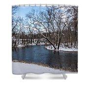 Winter Blue James River Shower Curtain