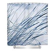Winter Breeze Shower Curtain by Priska Wettstein