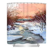 Winter Brook Shower Curtain