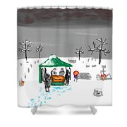Winter Burial Shower Curtain