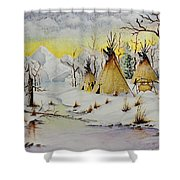 Winter Camp Shower Curtain