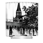 Winter Chairs Shower Curtain