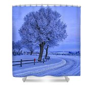Winter Chill Shower Curtain