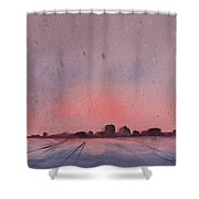Winter City Shower Curtain