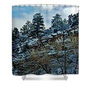 Winter Cliff Shower Curtain