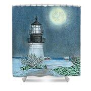 Winter Coast Shower Curtain