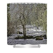 Winter Colors On The Klawock Shower Curtain