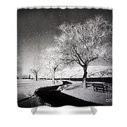 Winter Darkness Shower Curtain