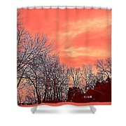 Winter Day 2 Shower Curtain