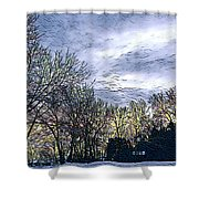Winter Day 3 Shower Curtain
