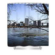 Winter Day At Belle Isle Shower Curtain