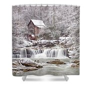 Winter Day At The Mill  Shower Curtain