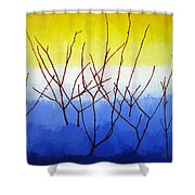 Winter Dogwood Shower Curtain