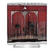 Winter Doors Shower Curtain
