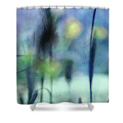 Winter Dreams Abstract Shower Curtain