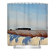 Winter Dunes Shower Curtain