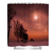 Winter Evening Shower Curtain