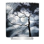 Winter Evening Shower Curtain