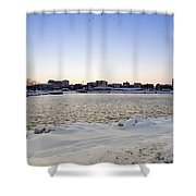 Winter Evening In Racine Shower Curtain