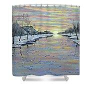 Winter Expression Sunrise Shower Curtain