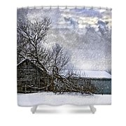 Winter Farm Shower Curtain