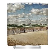 Winter Fences In Grand Haven 2.0 Shower Curtain