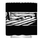 Winter Fences Shower Curtain