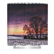 Winter Fields Shower Curtain