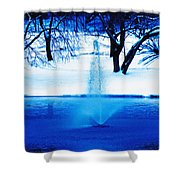 Winter Fountain 2 Shower Curtain