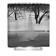 Winter Fountain Shower Curtain