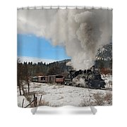 Winter Freight Special Shower Curtain